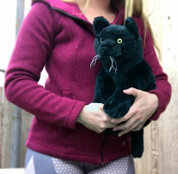 20in Floppy Black Cat Plush by AnimalArtKingdom