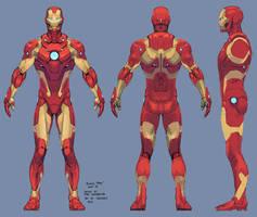 iron man armor model 37 / bleeding edge armor by tigr3ss