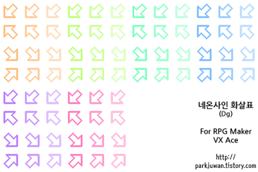 Neon Arrow Sign (Diag. and Alt color, RM VX/Ace) by The-Dreaming-Boy-88