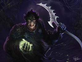 Kalhmar the evil Warriormage by Shockbolt