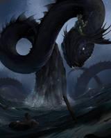 The giant seawyrm by Shockbolt