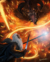 Gandalf and the Balrog V3.0 by Shockbolt