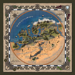 'Legendary' - Map of Aiuna - the known world by Shockbolt