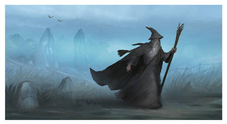 Gandalf wandering - Middle-earth inspired art by Shockbolt