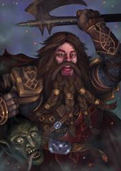 Dwarven warrior by Shockbolt