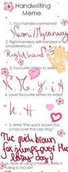 Myvanway's artificial way of handwriting (Meme) by Myvanway