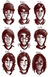 Protagonist Portraits by RessQ