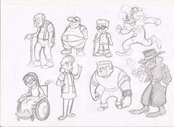 Cartoon characters by RikuGloomy