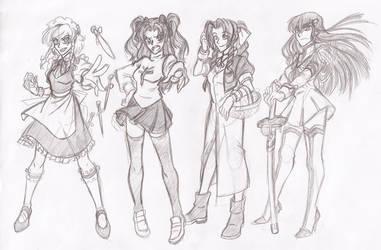 Female character crushes by RikuGloomy