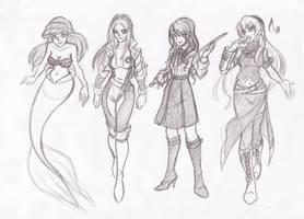Female character crushes 2 by RikuGloomy