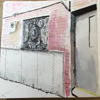 Back alley in St. Louis by Benjorr