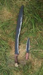 Larp Jatagan and dagger for orc shaman by VeverAk