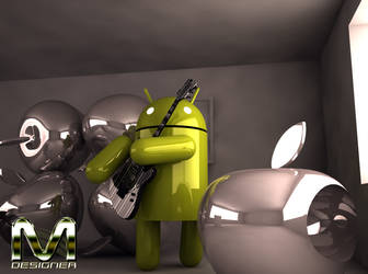 ANDROID+GUITAR+APPLE CINEMA 4D C4D by MARCOSMDESIGNER