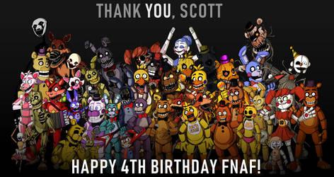 Happy 4th Birthday, FNAF! by theStupidButterfly