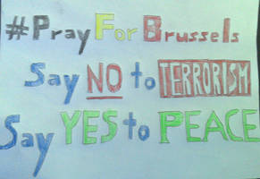 Pray for Brussels by The-Rosalina-Guru