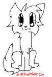 cute cute kitty lineart by xXashwindercatXx