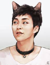 cat xiumin by genicecream