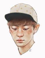 freckled chanyeol by genicecream