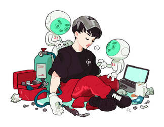 kyungsoo and d.o bots by genicecream