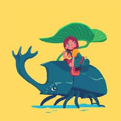 beetle girl by genicecream