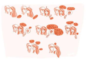 KP Kiss Doodle : Catching up by Shokaya