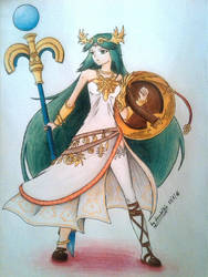 Palutena, Goddess of Light by diosadelfrio. by soniccreed