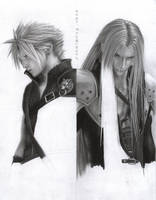 FF - Cloud and Sephiroth W6 by D17rulez
