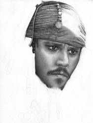 Capt Jack Sparrow WIP 4 by D17rulez
