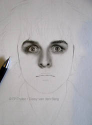 Drawing of Billie Joe Armstrong WIP 1 by D17rulez