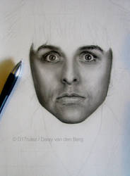 Drawing of Billie Joe Armstrong WIP 2 by D17rulez