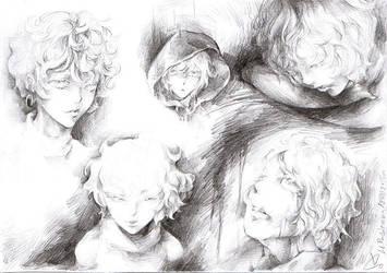 [FOR SALE] Sabitsuki sketches by akanotsubasa