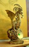 golden dragon queen emerald by moredragons