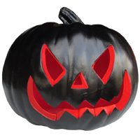 Black Pumpkin Jack o Lantern Icon by FreeAvatarProject