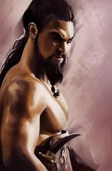 Khal Drogo Study by JoshSummana