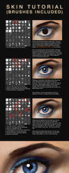 Skin Colour/Texture Tutorial + Brushes by JoshSummana