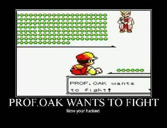 you VS. prof. oak by gamerma
