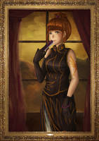 Ushiromiya Eva Portrait by pasteltea