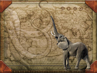 Elephant Map by Quistwm