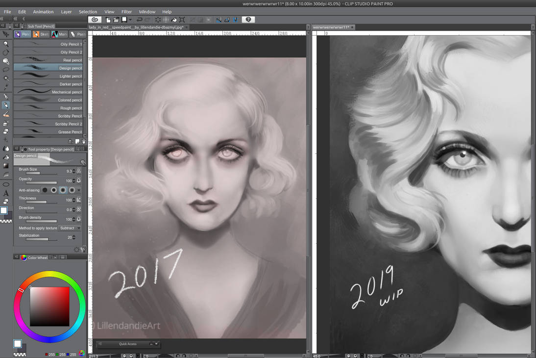 Lady In Red Redraw WIP Preview by Lillendandie