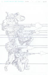 Team Stryker Mission 006 Cover Pencils by AndrewTeamStryker