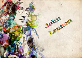 John Lennon water by lost-winterborn