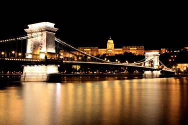 Chain Bridge by Night by guselektrisch