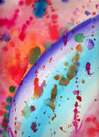 Abstract Watercolor by lexicalsanctuary