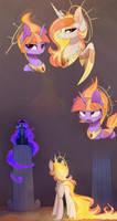 Fire goddesses by MagnaLuna