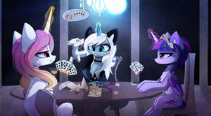 Poker Night by MagnaLuna