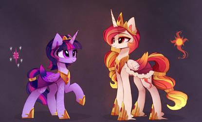 Queens of Equestria by MagnaLuna
