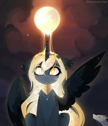 Golden Moon by MagnaLuna