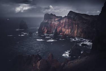 Ponta do Rosto during storm by yv