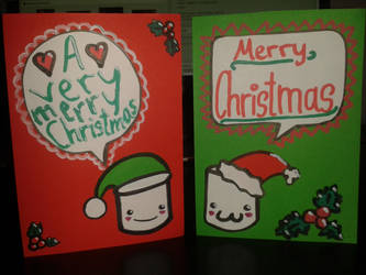 My christmas cards for the Holiday Card Project by SomeSkullio