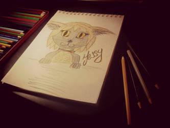 A cat named Jessy by SomeSkullio